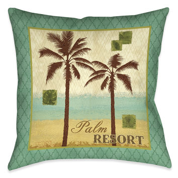 Palm Resort II Indoor Decorative Pillow