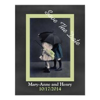 Vintage Photo Wedding Save The Date Announcement