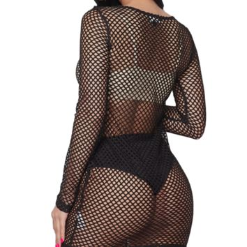 Underneath It All Fishnet Cover Up