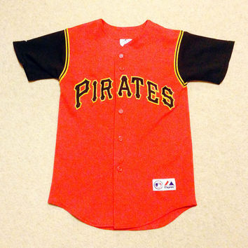 Pirate Baseball Jersey, Size Youth Small, Majestic Vintage Jersey