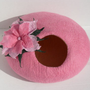 Cat Cave / Cat Bed / Cat Den / Cat House / Pink Cat Cocoon and GIFT