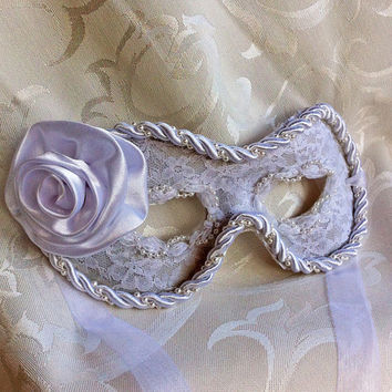 White Lace Fabric Eye Maquerade Mask