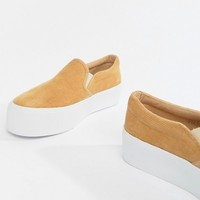 ASOS DESIGN Deacon chunky slip on plimsolls at asos.com