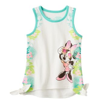 Disney's Minnie Mouse Tropical Side-Tie Tank by Jumping Beans - Girls
