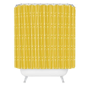 Allyson Johnson Chartreuse Arrows Shower Curtain
