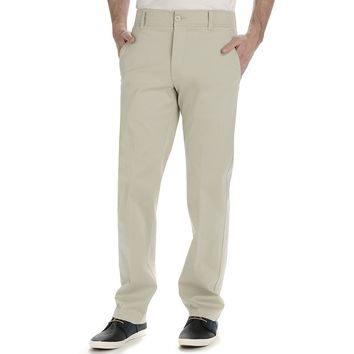 Lee Performance Series Extreme Comfort Khaki Straight-Fit Flat-Front Pants - Men, Size: