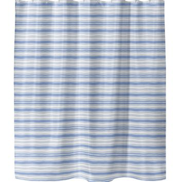 RIP BLUE Shower Curtain By Tiffany Wong