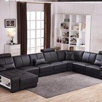 Beanbag Chaise  Specail Offer Sectional Sofa Design U Shape 7 Seater Lounge Couch Good Quality Cheap Price Corner Leather Sofa