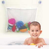 Bath Toy Organizer For Baby Girls and Boys with 2 EXTRA Strong Suction Cups from babyolas Offers Storage Basket With Firm Grip To Tiles and Glass Surfaces-Manufactured with Washable and Mould Resistant Material.Boost Your Baby's Bath Time Experience!