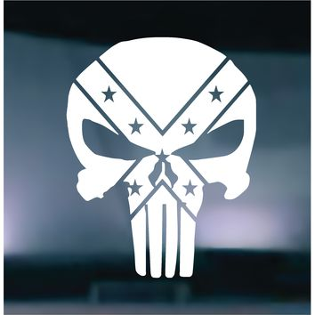 The Punisher Rebel Flag Vinyl Graphic Decal