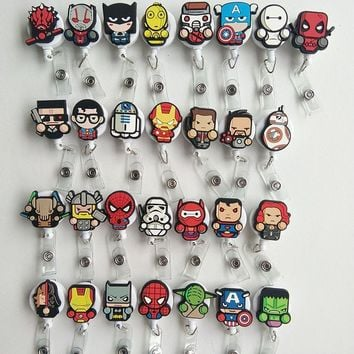 Star Wars Force Episode 1 2 3 4 5 2017 New Promotional gifts 29PCS/lot Cute  Card Badge Holder Retractable Pull Cartoon Badge Reel ID Tag Clip AT_72_6