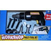 My Workshop Drill, Drill Bits, Screws - 9 Piece Set - Realistic Action & Vibration