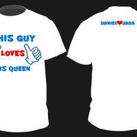 "Personalized ""KING QUEEN""  Cute Couples Matching Shirts Small-2XL"