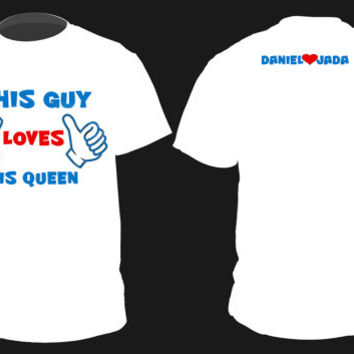 """Personalized """"KING QUEEN""""  Cute Couples Matching Shirts Small-2XL"""
