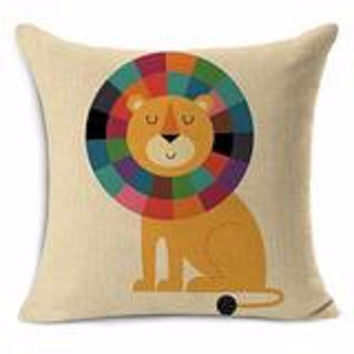 Horse Rabbit Lion Cushion Pillows Decorative Pillows