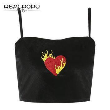 HEARTS ON FIRE crop top