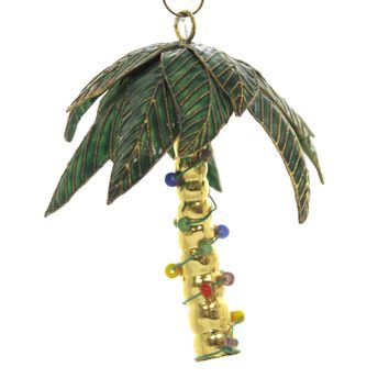 Holiday Ornaments CHRISTMAS PALM TREE Metal Beach 587120