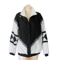 90s Windbreaker Jacket Women Windbreaker Black Windbreaker 90s Windbreak Wind Breaker Retro Windbreaker Women Spring Jacket Light Jacket 80s
