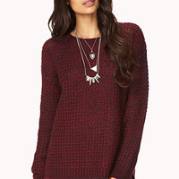 Marled High-Low Sweater