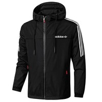 Boys & Men Adidas Cardigan Jacket Coat Windbreaker