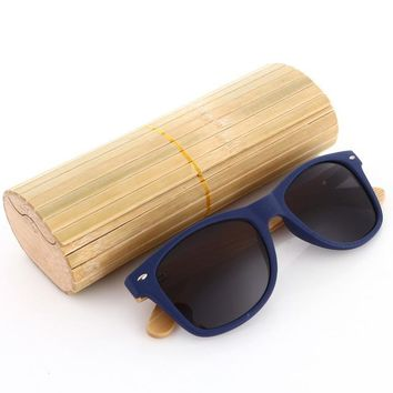 Wooden Sunglasses Polarized Men with Bamboo Case