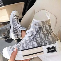 DIOR Hot Sale Women Personality High Help Sport Sneakers Shoes