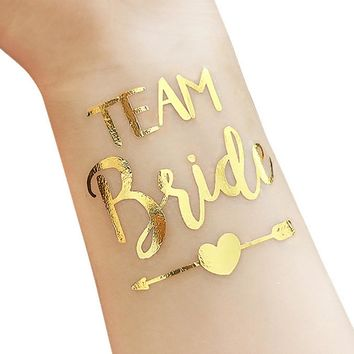 Bridesmaid team temporary tattoo