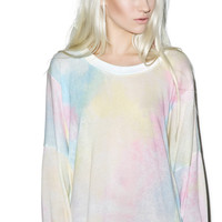 Wildfox Couture Dream Tie-Dye Nevada Jumper Multi