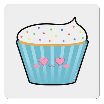 "Cute Cupcake with Sprinkles - Heart Eyes 4x4"" Square Sticker by TooLoud"