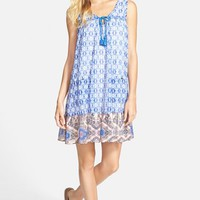 Junior Women's As U Wish Print Trapeze Dress