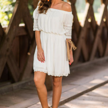 Captivated By You Dress, Ivory