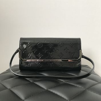 Louis Vuitton Rossmore MM Black Monogram Vernis Clutch/Shoulder Bag