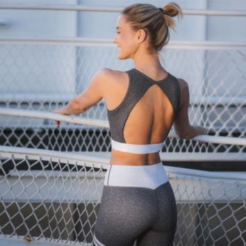 New Women's Sexy Backless Yoga Sports Suit [1412449206308]