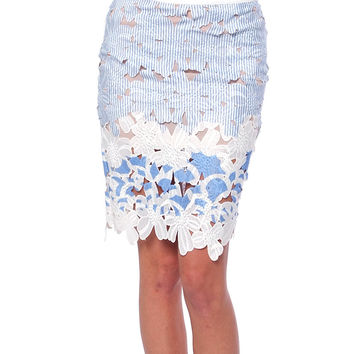 Cocktail Soiree Lace Pencil Skirt