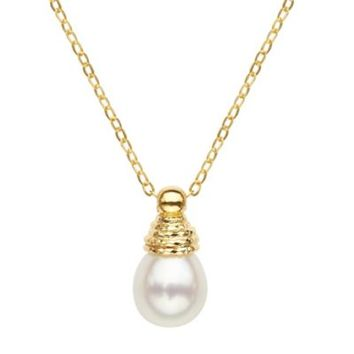 Honora 10K White Oval Roped Freshwater Cultured Pearl 17.25-Inch Chain Necklace