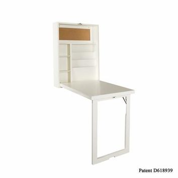 Fold-Out Convertible Desk - Winter White
