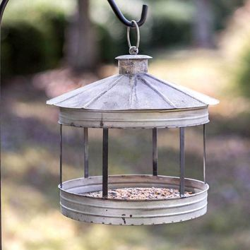 Hanging Silo Bird Feeder