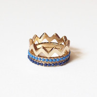 Chevron Stack Rings from Lemon Drop Boutique