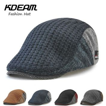 Breathable Wool knitting Berets Cap Adjustable Caps for Men Outdoor Women Warm Hats Flat Cotton Newsboy fashion
