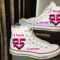 R5 On Black Converse Shoes I Love R5 Design, Custom Converse Shoes Inspired from R5