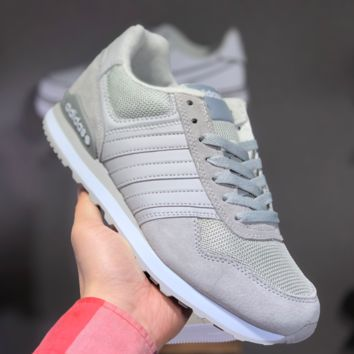 hcxx A1455 Adidas 2019 NEO 8K Retro Low Casual Running Shoes Gray