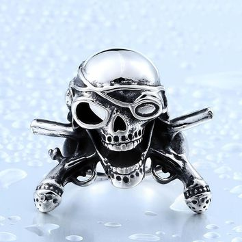 Motorcycle Ring Fashion Mens Skull Moto Biker Gift Ring Unique Stainless Steel Dragon Gothic Christmas Moto Ring Hiphop BR8-386