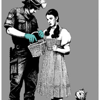 Banksy Dorothy Police Search Graffiti Art Poster 11x17
