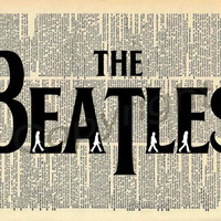 The Beatles Silhouettes Dictionary Art Print