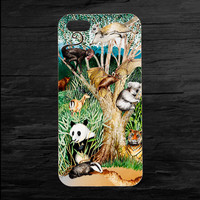 Tiger Panda Monkey Koala Wildlife iPhone 4 and 5 Case