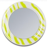 Lime Zebra Stripes Locker Mirror