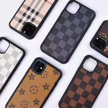 Louis vuitton is selling a case of the iPhone 11 pro in contrasting colors for casual men and women