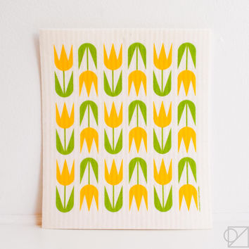 Swedish Dishcloth Tulips