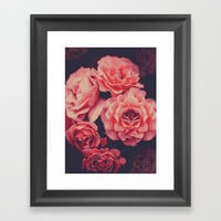 Pink Flowers Framed Art Print by lostanaw