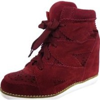 Jeffrey Campbell Venice Hi Red Suede SIZE 7 Women Shoes